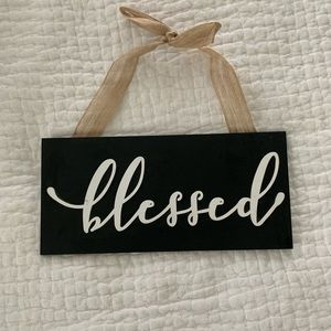 """NWT """"Blessed"""" wooden Sign"""